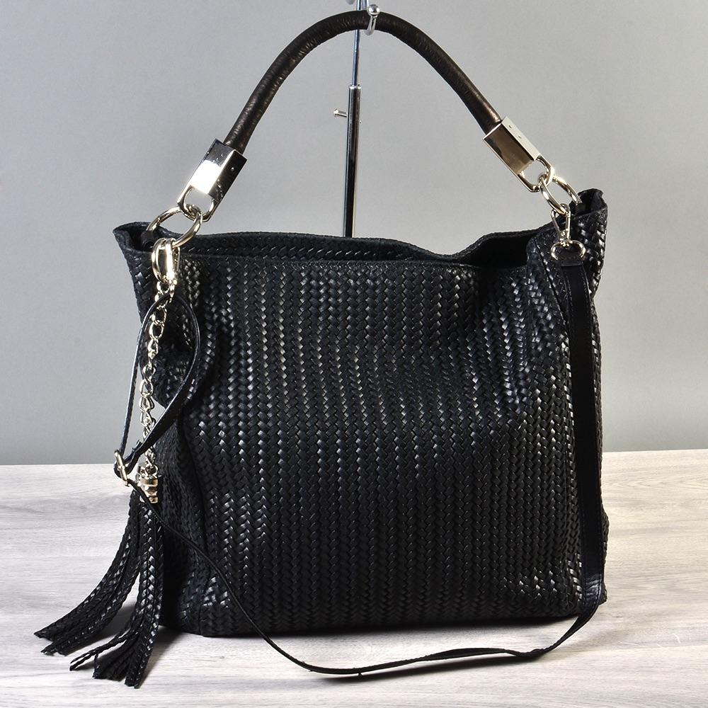 tasche handtasche italy echt leder geflochten schultertasche shopper handtasche ebay. Black Bedroom Furniture Sets. Home Design Ideas