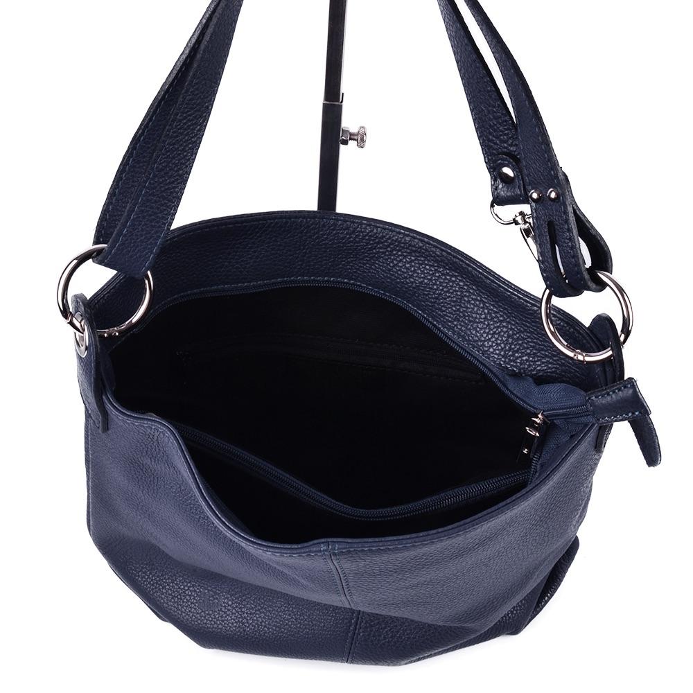 tasche handtasche ital echt leder schultertasche umh ngetasche dunkelblau neu ebay. Black Bedroom Furniture Sets. Home Design Ideas